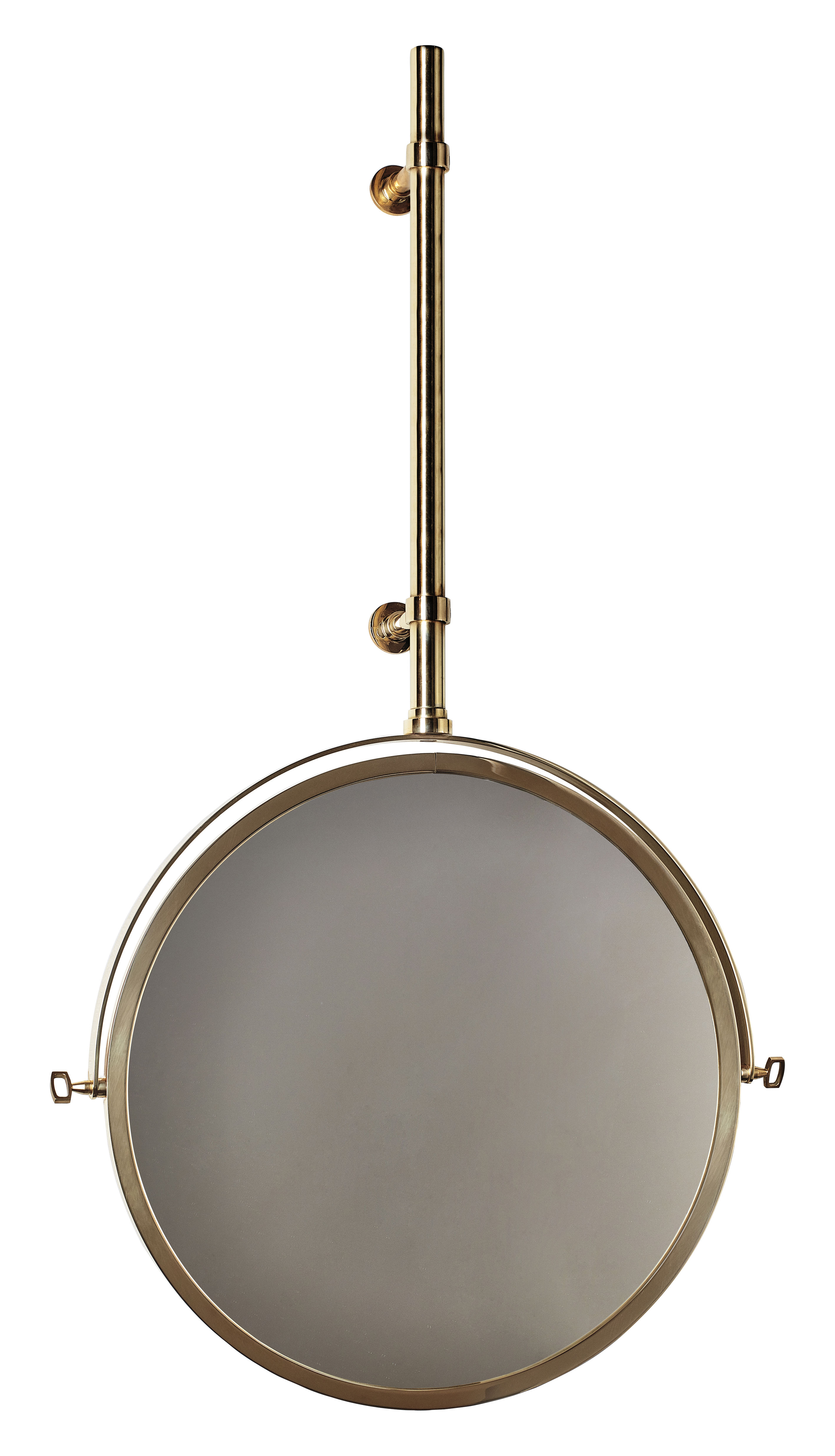 Decoration - Mirrors - MbE Wall mirror - Adjustable - Ø 44 cm by DCW éditions - Brass - Glass, Polished brass