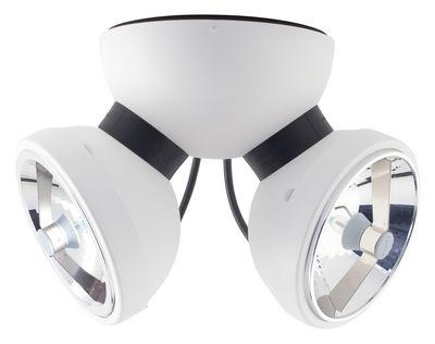 Leuchten - Wandleuchten - Bipro 360° Wandleuchte Deckenleuchte - Azimut Industries - Weiß - lackiertes Metall