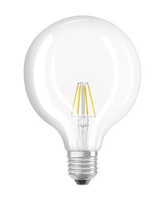 Ampoule LED E27 / Globe clair 12,5 cm - 6,5W=60W (2700K, blanc chaud) - Osram transparent en verre