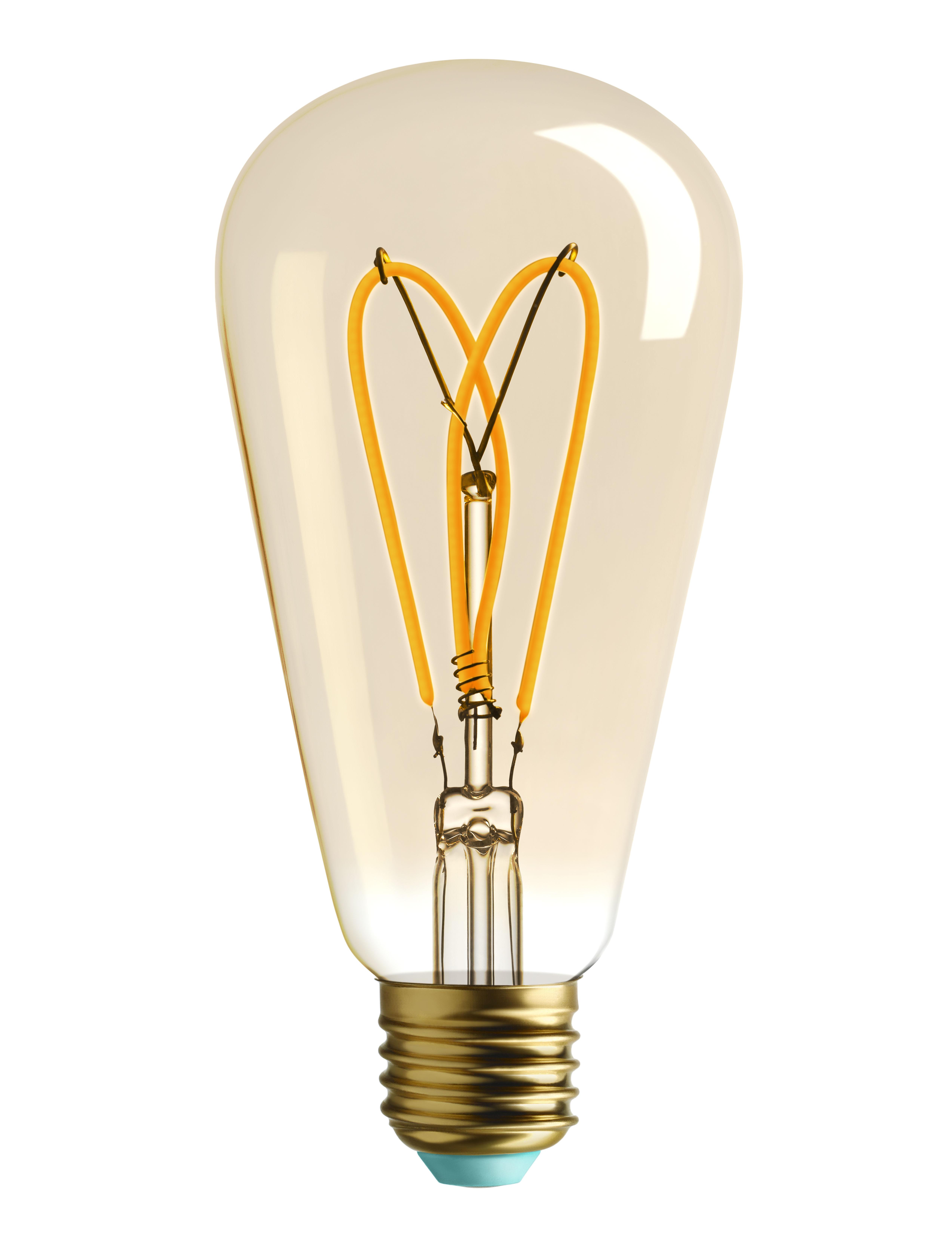 Luminaire - Ampoules et accessoires - Ampoule LED filaments E27 Whirly Willis / 4W (15W) - 140 Lumen - Plumen - Doré / 140 Lumen - Verre