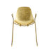 Mammamia Sled Armchair - / Gold leaf finish metal - Sled base by Opinion Ciatti