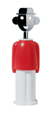 Kitchenware - Fun in the kitchen - Sandro M. Bottle opener by A di Alessi - Red - Chromed zamak, Polyamide