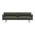 Canapé droit Outline / 3 places- L 220 cm - Tissu - Muuto