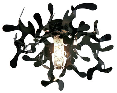 Lighting - Ceiling Lights - Mini Coral Ceiling light by Lumen Center Italia - Black - Lacquered metal