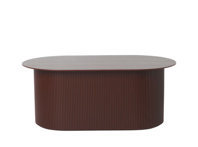 Furniture - Coffee Tables - Podia Coffee table - / Box - 95 x 55 cm by Ferm Living - Burgundy - Painted MDF, Tinted ash veneer