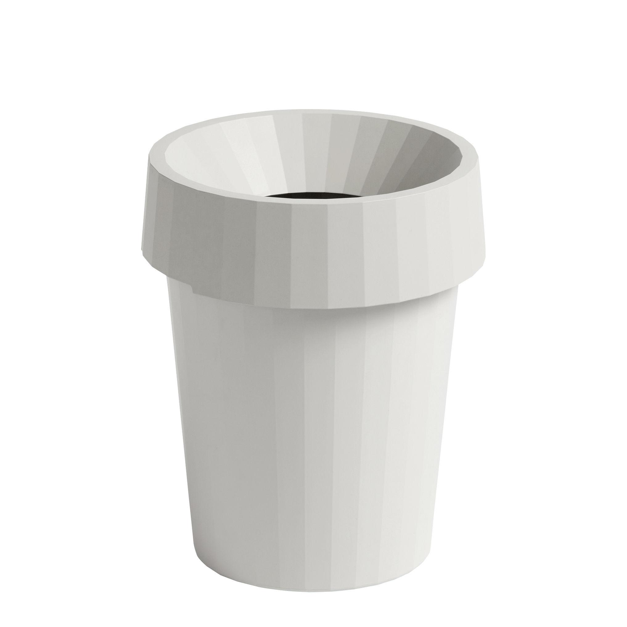 Accessoires - Accessoires bureau - Corbeille à papier Shade / Ø 30 x H 37 cm - Hay - Blanc - Polypropylène recyclable