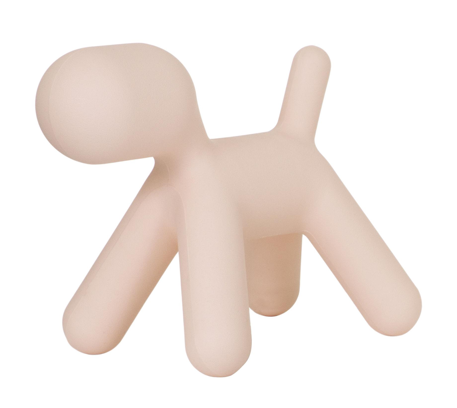 Mobilier - Mobilier Kids - Décoration Puppy Medium / L 56 cm - Magis Collection Me Too - Rose mat - Polyéthylène rotomoulé