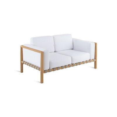 Arredamento - Divani moderni - Divano destro Pevero - / L 150 cm - Teak / Senza cuscino di Unopiu - Divano / Teak - Teck, Tessuto