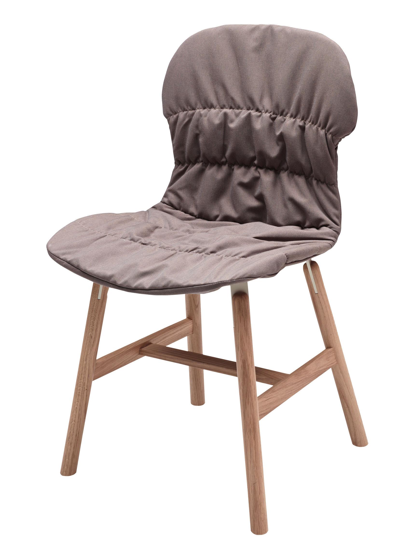 Arredamento - Sedie  - Fodera per sedia - / Per sedie Stereo Wood e Stereo 4 gambe di Casamania - Grigio talpa - Tessuto Kvadrat