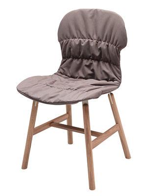 Mobilier - Chaises, fauteuils de salle à manger - Housse de chaise / Pour chaises Stereo Wood et Stereo 4 pieds - Casamania - Taupe - Tissu Kvadrat