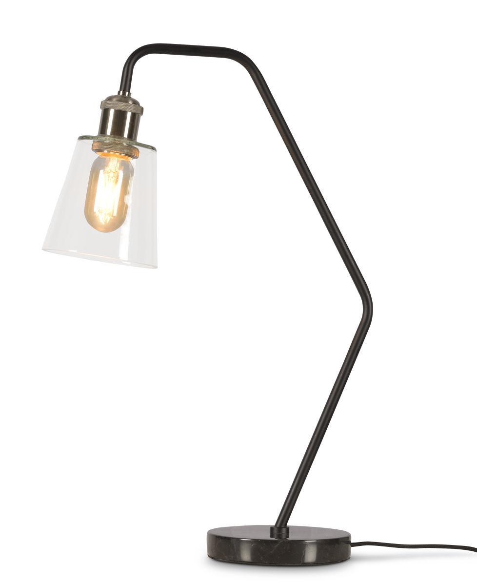Illuminazione - Lampade da tavolo - Lampada da tavolo Paris di It's about Romi - Noir - Ferro dipinto, Marmo, Vetro
