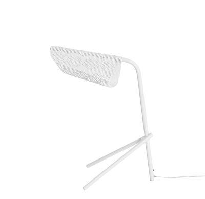 Lampe de table Méditerranéa / LED - Métal perforé - Petite Friture blanc en métal