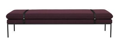 Lit de jour Turn L 190 cm Ferm Living noir,bordeaux en cuir