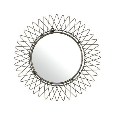 Déco - Miroirs - Miroir mural Starlight / Ø 50 cm - Pols Potten - Laiton vieilli - Métal finition laiton vieilli