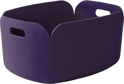 Déco - Paniers et petits rangements - Panier Restore / Feutre - 35 x 48 cm - Muuto - Violet - Feutre