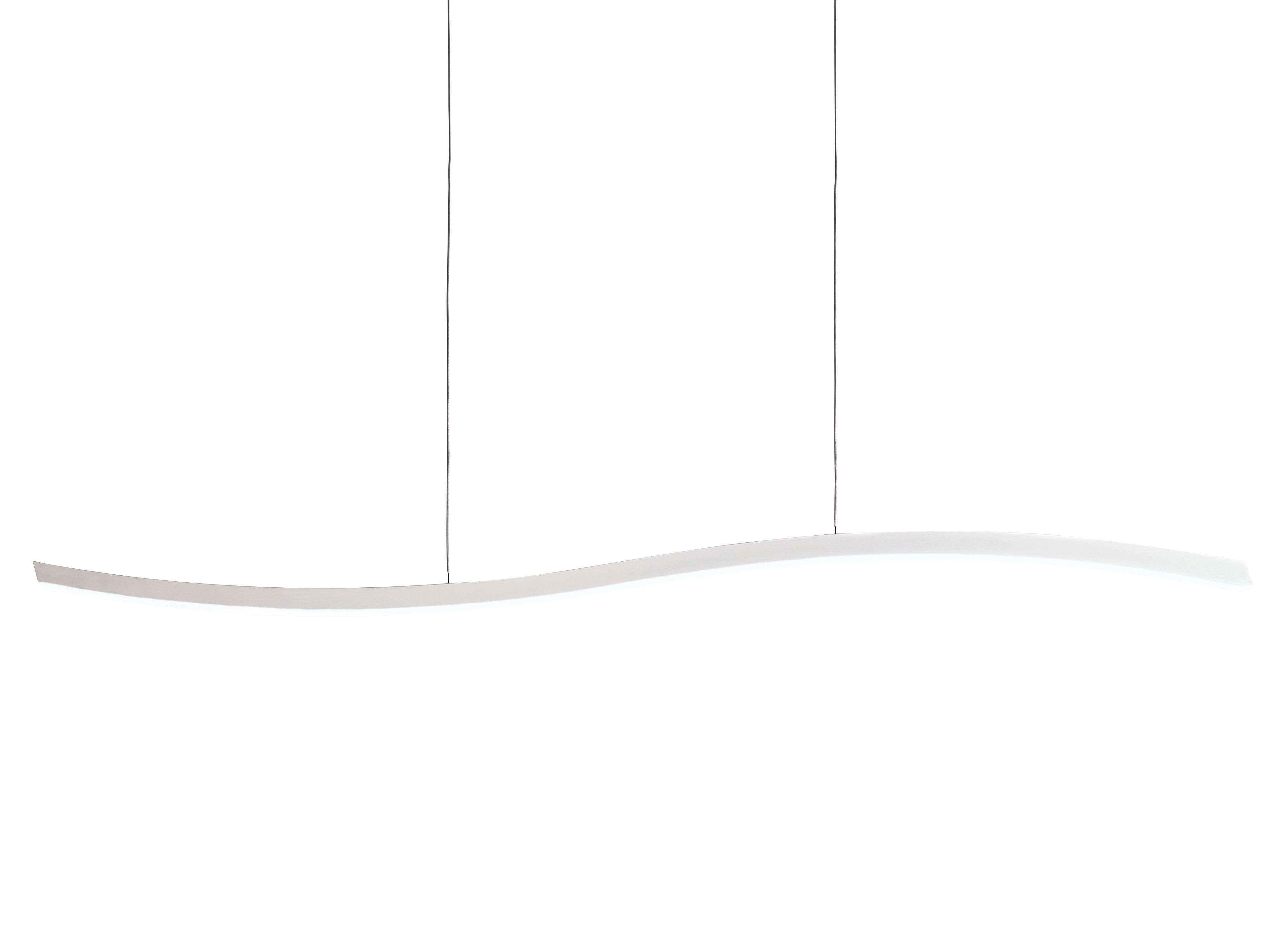 Lighting - Pendant Lighting - Serpentine Pendant - 364 Leds by Fontana Arte - White - Lacquered aluminium