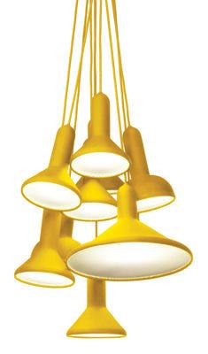 Torch Light Pendelleuchte / 10 Lampenschirme - Established & Sons - Gelb