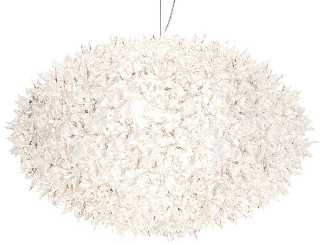 Leuchten - Pendelleuchten - Big Bloom Pendelleuchte /Extra-breit - Ellipsenförmig - Ø 80 cm x H 51,5 cm - Kartell - Kristall transparent - Polykarbonat