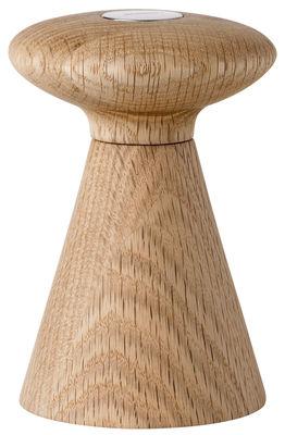 Egg Cups - Salt & Pepper Mills - Forest Pepper pot by Stelton - Poivre / Bois & logo noir - Ceramic, Oak, Stainless steel