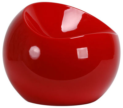 Furniture - Teen furniture - Ball Chair Pouf by XL Boom - Red - Recycled lacquered ABS