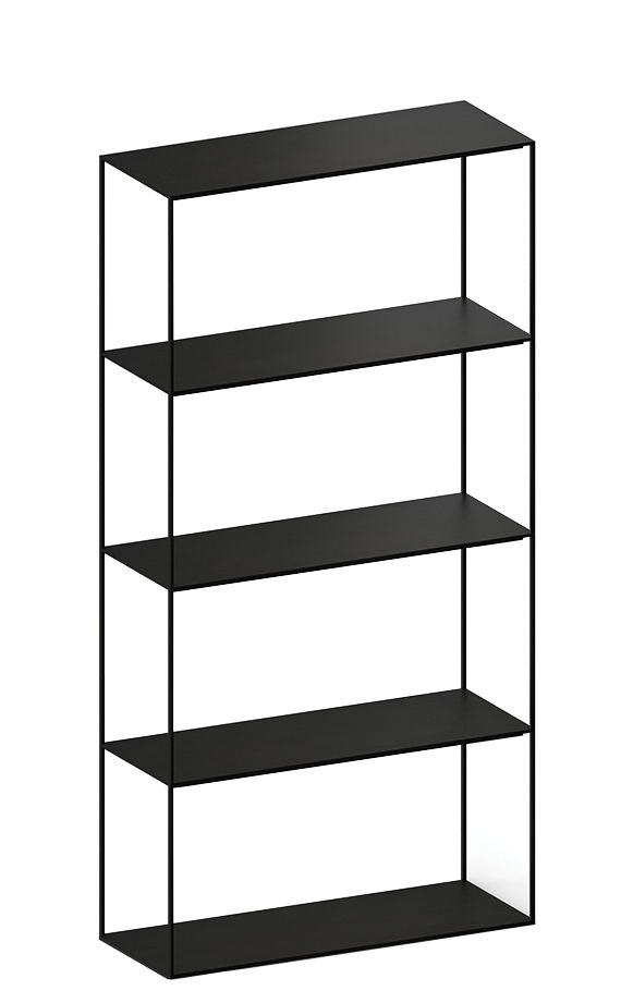 Möbel - Regale und Bücherregale - Slim Irony Regal / L 82 cm x H 164 cm - Zeus - Schwarzbraun - bemalter Stahl