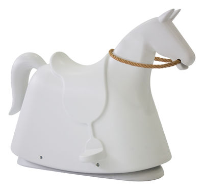 Furniture - Kids Furniture - Rocky Rocking horse by Magis Collection Me Too - White - Hemp, Polythene