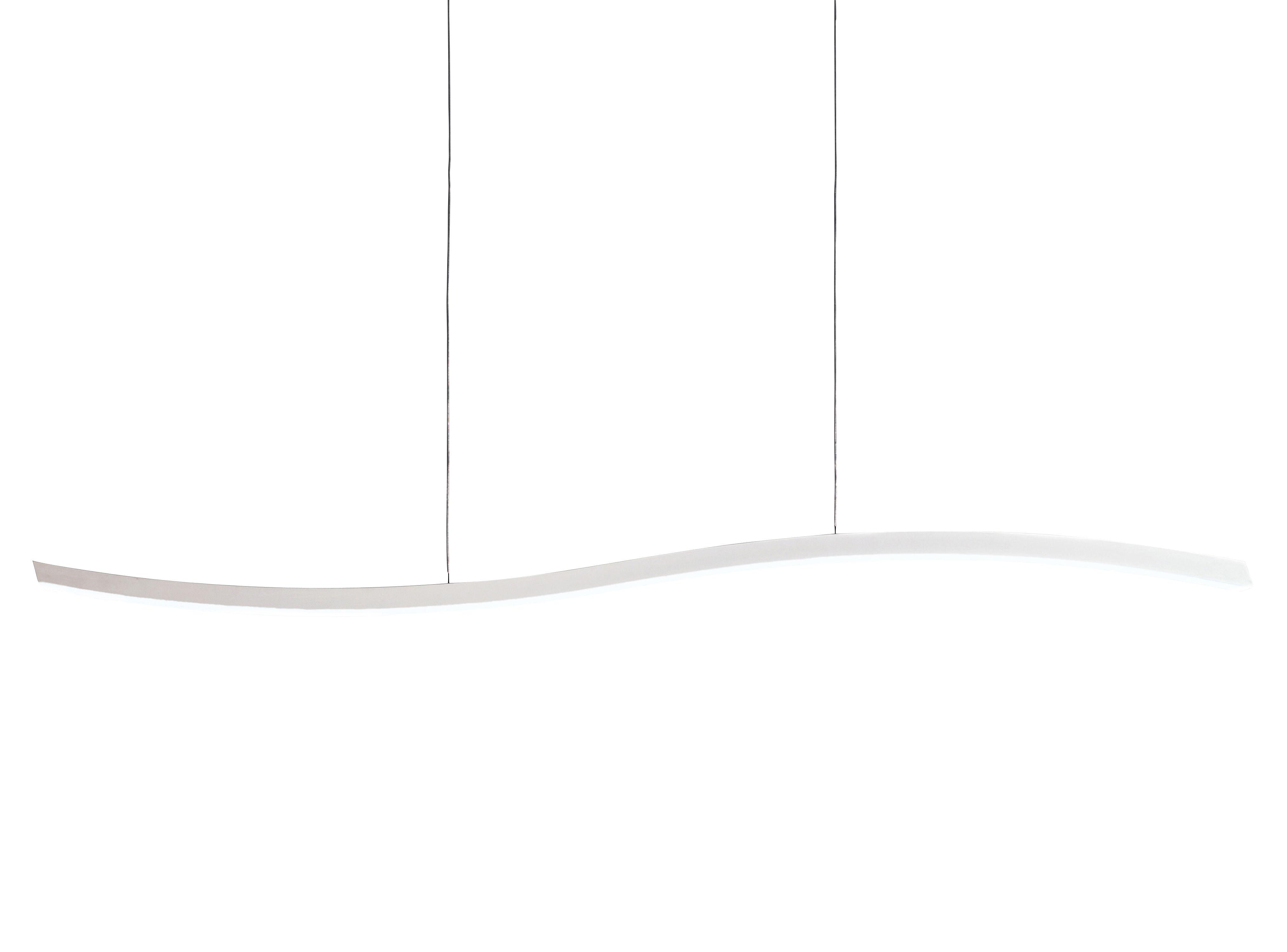 Illuminazione - Lampadari - Sospensione Serpentine - 364 Leds di Fontana Arte - Bianco - Alluminio laccato