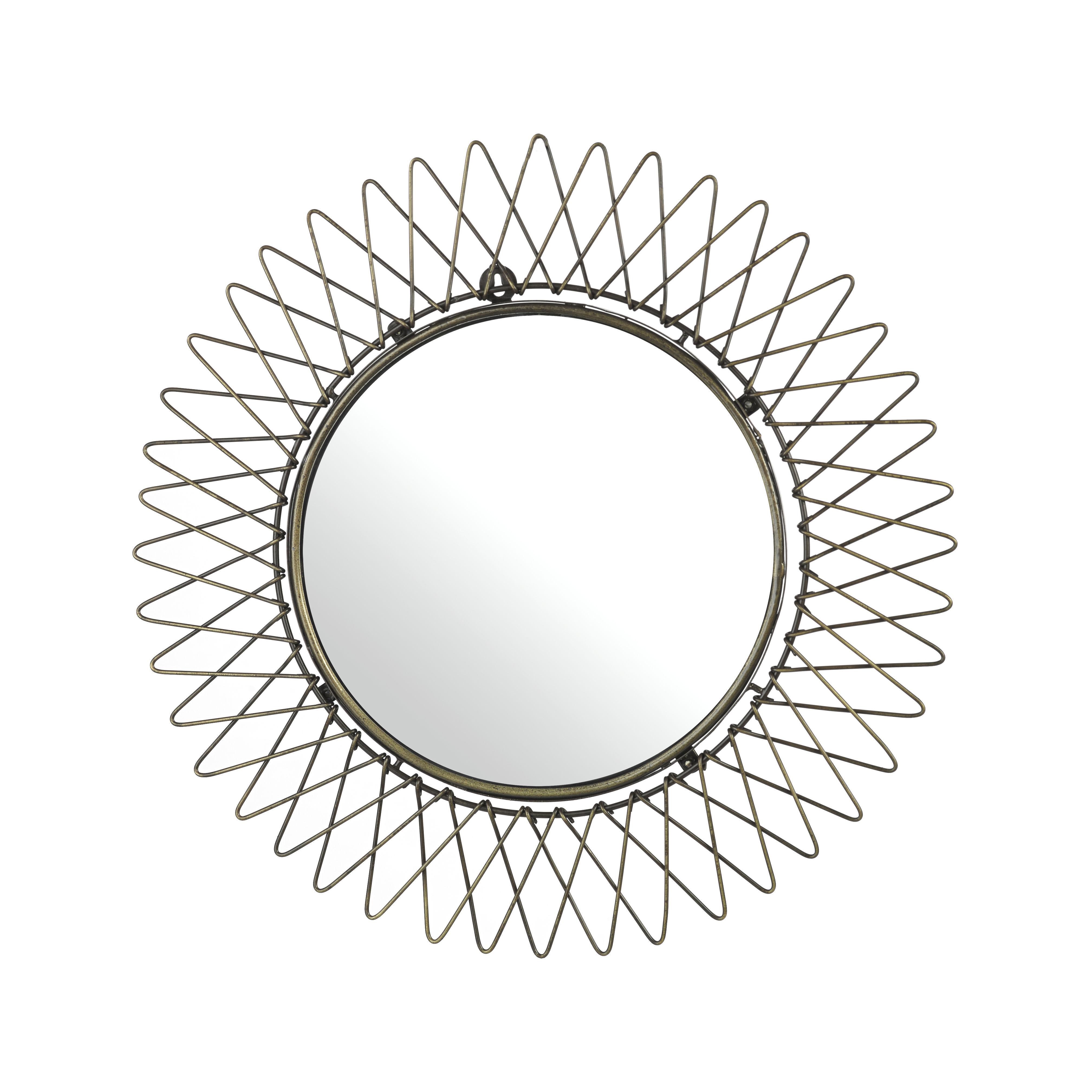 Interni - Specchi - Specchio murale Starlight - / Ø 50 cm di Pols Potten - Laiton vieilli - Metallo con finitura in ottone anticato