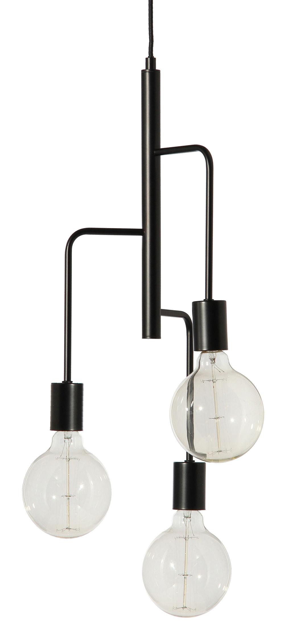 suspension cool 25 cm noir frandsen. Black Bedroom Furniture Sets. Home Design Ideas