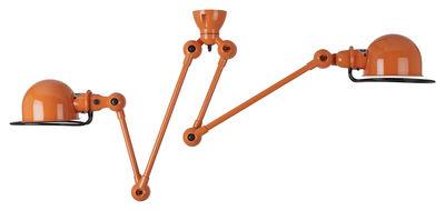 Suspension Loft /Double - 2 bras - L max 130 cm - Jieldé orange en métal/céramique