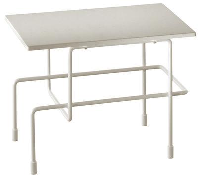 Table basse Traffic / 45 x 30 cm - Pour l'extérieur - Magis blanc en métal/pierre