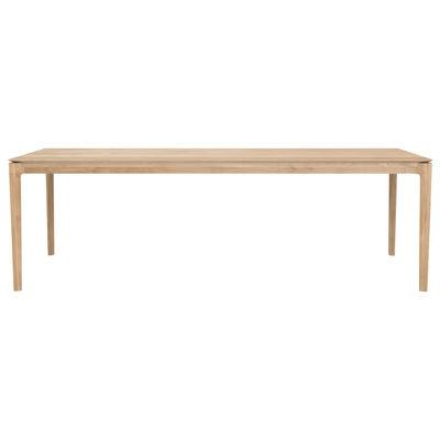 Table rectangulaire Bok / Chêne massif - 240 x 100 cm / 10 personnes - Ethnicraft bois naturel en bois