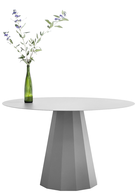 Tendances - À taaable ! - Table ronde Ankara L / Ø 120 cm - Matière Grise - Gris alu - Acier