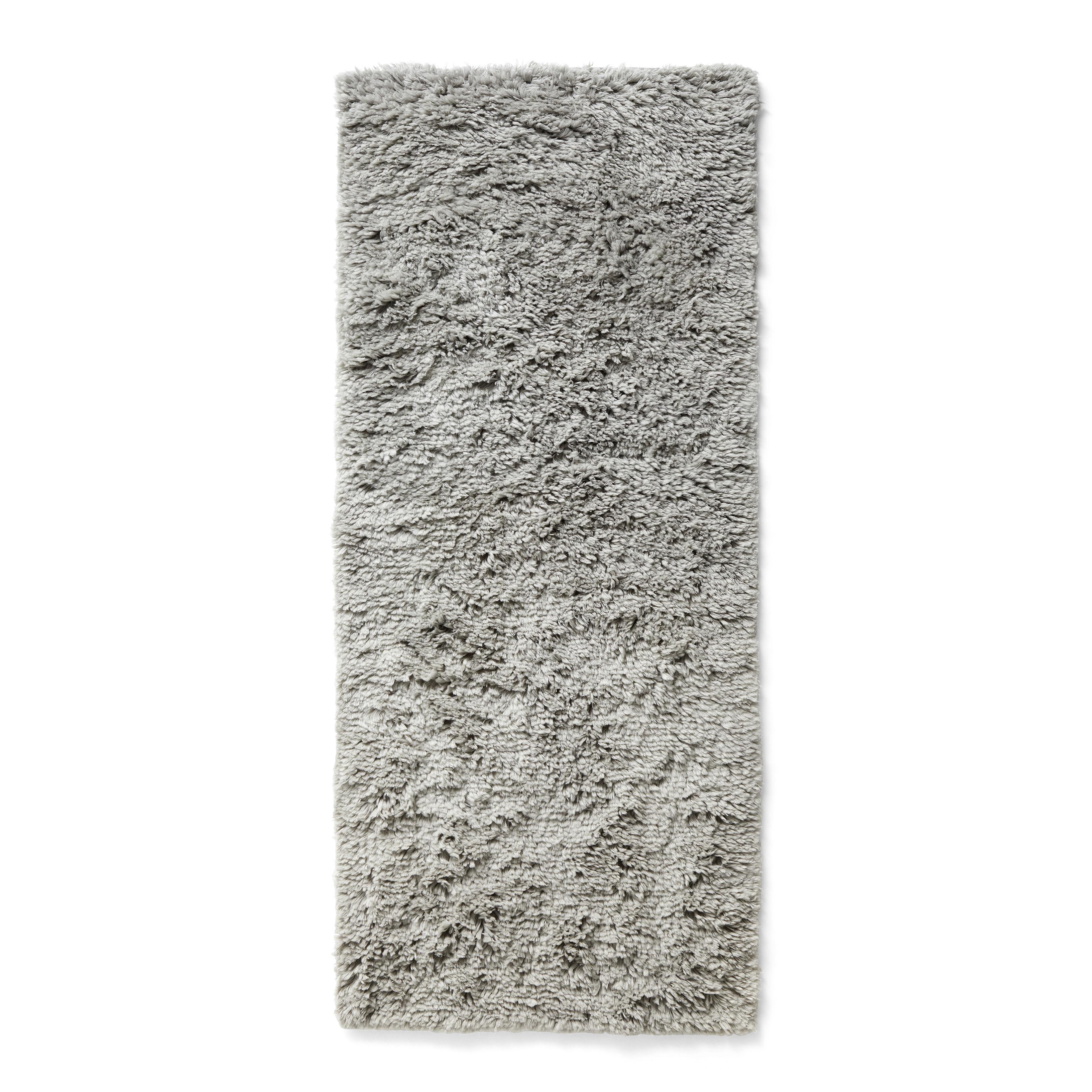 Déco - Tapis - Tapis Shaggy / 80 x 200 cm - Poils longs - Hay - Gris chaud - Laine