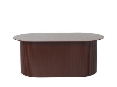 Arredamento - Tavolini  - Tavolino Podia - / Cofanetto - 95 x 55 cm di Ferm Living - Bordò - Impiallacciatura di frassino tinta, MDF tinto