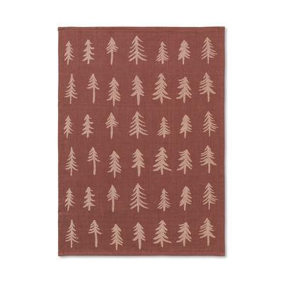 Tableware - Napkins & Tablecloths - Christmas Tea towel - / 70 x 50 cm by Ferm Living - Cinnamon - Organic cotton