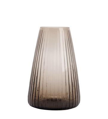 Interni - Vasi - Vaso Dim - / Vaso - Ø 19 x H 28 cm di XL Boom - Large / A righe - Vetro soffiato a bocca
