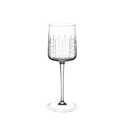 Verre à vin rouge Graphik / Cristal soufflé bouche - Christofle transparent en verre