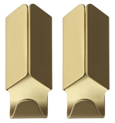 Möbel - Garderoben und Kleiderhaken - Volet Wandhaken / 2er-Set - Hay - Goldfarben - eloxiertes Aluminium