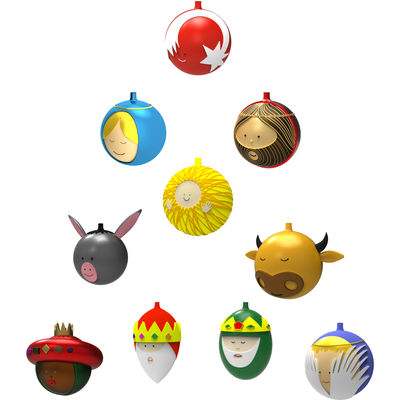 Dekoration - Dekorationsartikel - Weihnachtskugel / 10er-Set - A di Alessi - Mehrfarbig - mundgeblasenes Glas