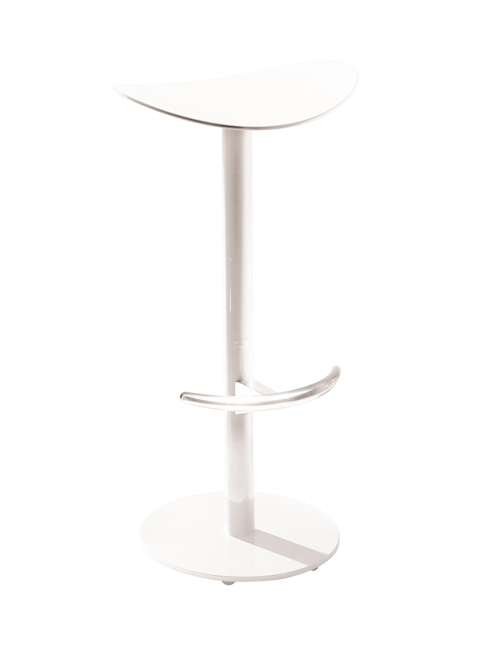 Möbel - Barhocker - Coma Barhocker H 69 cm - Enea - Weiß - lackierter Stahl, Polypropylen