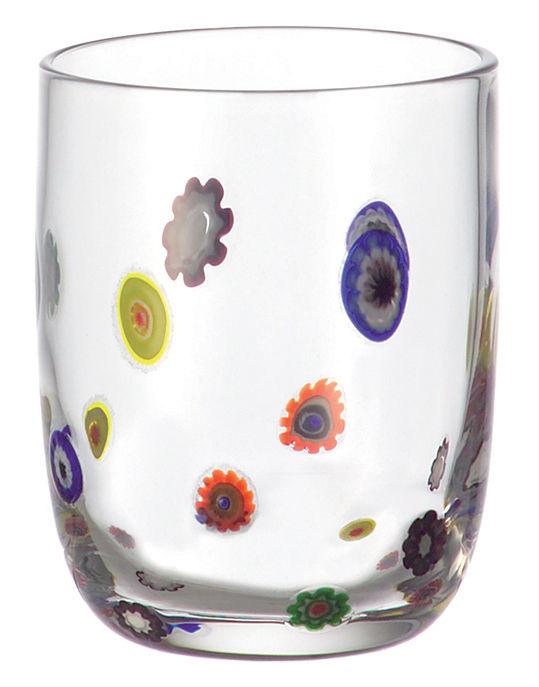 Tavola - Bicchieri  - Bicchiere da whisky Millefiori di Leonardo - Trasparente - Vetro