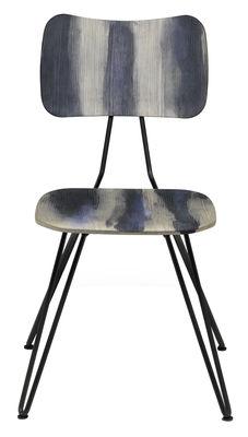 Chaise Overdyed Bois Diesel with Moroso gris délavé en bois