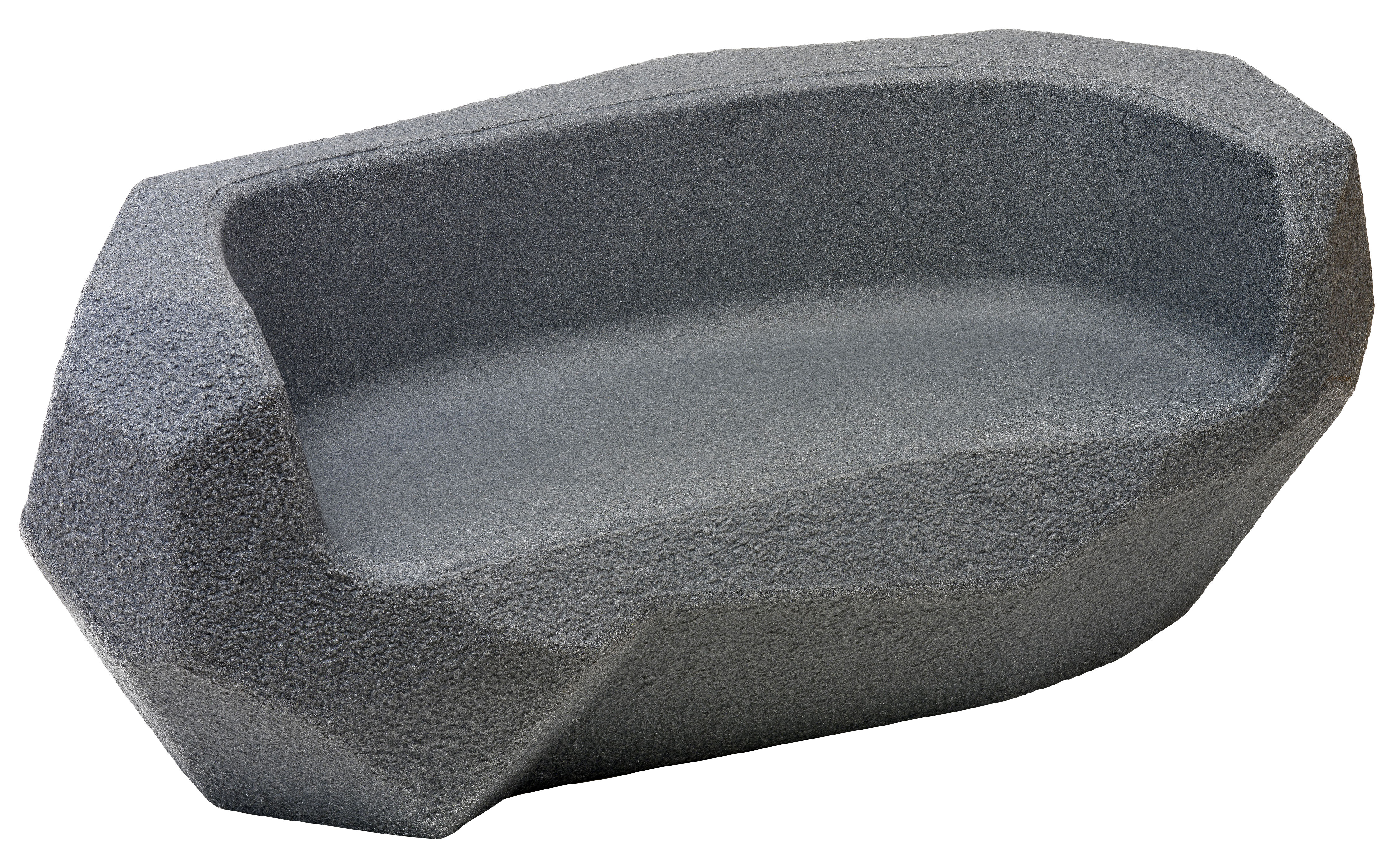 Furniture - Kids Furniture - Piedras Children's sofa by Magis Collection Me Too - Charcoal grey - Polythene