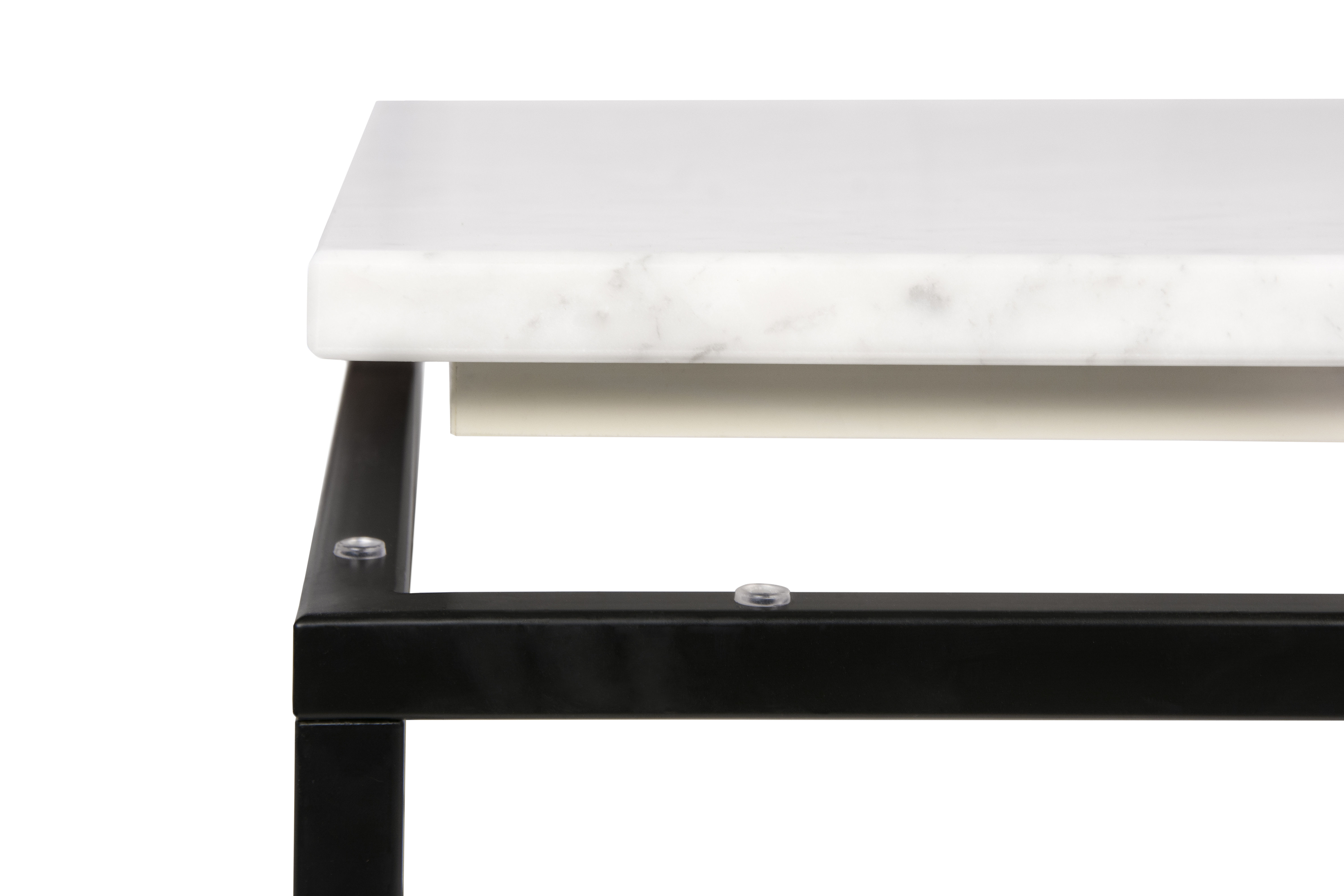 Coffee Table Marble By Pop Up Home White Marble Black Leg H 35