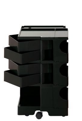 Desserte Boby / H 73 cm - 4 tiroirs - B-LINE noir en matière plastique
