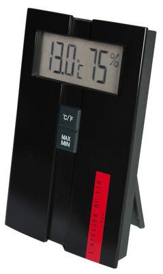 Accessoires - Technik - Hygro-Thermo Digital-Station Messung von Temperatur und Luftfeuchtigkeit des Weinkellers - L'Atelier du Vin - Schwarz - Polykarbonat