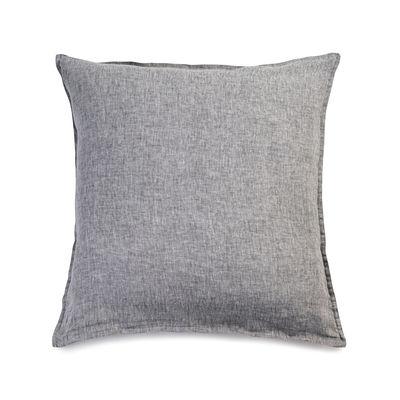 Interni - Tessili - federa 65 x 65 cm - / 65 x 65 cm Lino lavato di Au Printemps Paris - Chiné antracite - Lin lavé