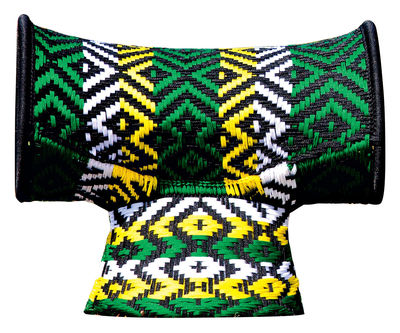 Möbel - Hocker - M'Afrique - Touti Hocker - Moroso - Grüne Töne - gefirnister Stahl, Plastikmaterial