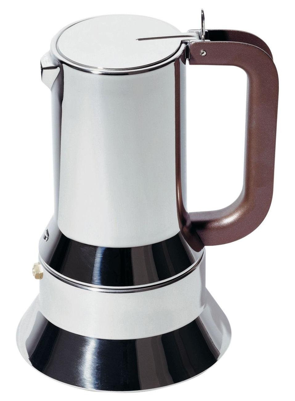 Tischkultur - Tee und Kaffee - 9090 italienischer Kaffeebereiter 1 bis 3 Tassen - Alessi - 1 bis 3 Tassen - rostfreier Stahl